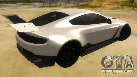 2015 Aston Martin Vantage GT12 para la visión correcta GTA San Andreas