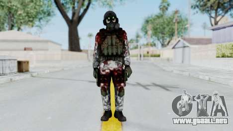 Black Mesa - Wounded HECU Marine v1 para GTA San Andreas segunda pantalla
