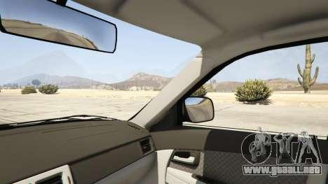 GTA 5 Lada Priora v.2.3 vista lateral trasera derecha