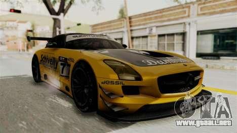 Mercedes-Benz SLS AMG GT3 PJ3 para vista lateral GTA San Andreas