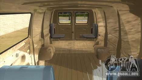 Ford E-250 Extended Van 1979 para vista lateral GTA San Andreas
