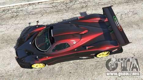 GTA 5 Pagani Zonda R vista trasera
