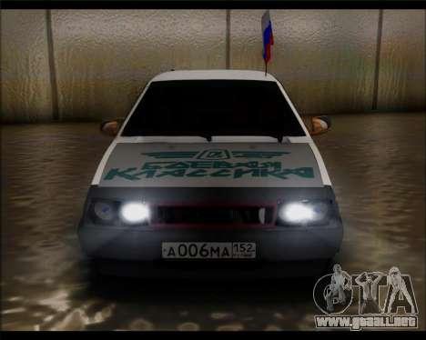 VAZ 2108 Militares Clásicos para la visión correcta GTA San Andreas
