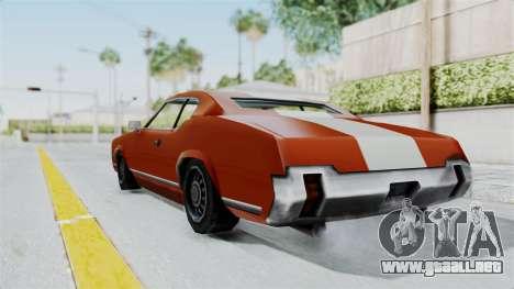 GTA Vice City - Sabre Turbo (Unsprayable) para GTA San Andreas left