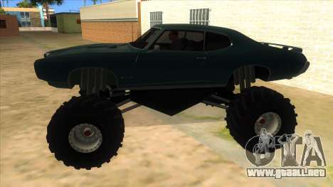 1969 Pontiac GTO Monster Truck para GTA San Andreas left