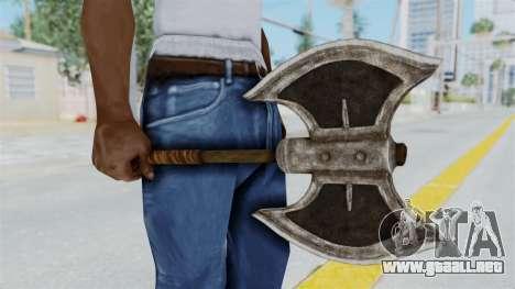 Skyrim Iron Battle Axe para GTA San Andreas segunda pantalla