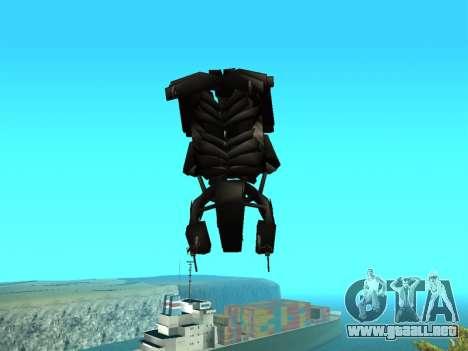 The Dark Knight Rises BAT v1 para vista lateral GTA San Andreas