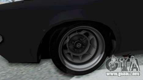Opel Manta B1 CC para GTA San Andreas vista hacia atrás