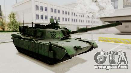 M1A2 Abrams Woodland Croatian para GTA San Andreas