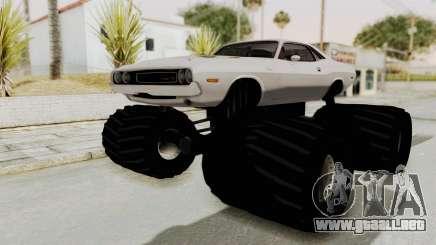 Dodge Challenger 1970 Monster Truck para GTA San Andreas