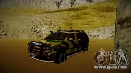 Chevrolet Tahoe LTZ v2 Camofluge para GTA San Andreas