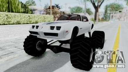Pontiac Firebird Trans Am Monster Truck 1980 para GTA San Andreas