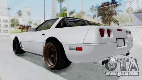 Chevrolet Corvette C4 Drift para la visión correcta GTA San Andreas