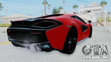 McLaren 570S 2016 para la visión correcta GTA San Andreas