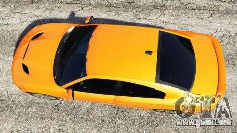 GTA 5 Dodge Charger SRT Hellcat 2015 v1.2 vista trasera