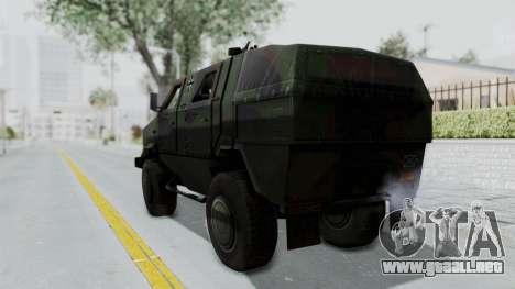 ATF Dingo para GTA San Andreas left