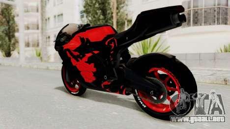 Bati Batik Hellboy Motorcycle v3 para GTA San Andreas left