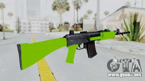 IOFB INSAS Light Green para GTA San Andreas segunda pantalla