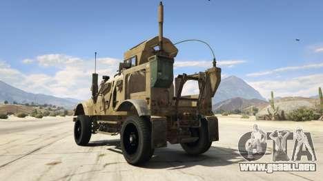 GTA 5 Oshkosh M-ATV 0.01 vista lateral izquierda trasera