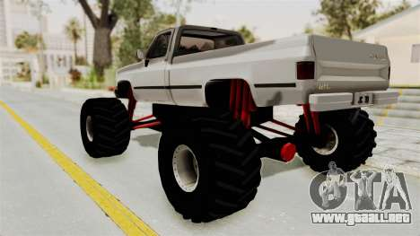 Chevrolet Silverado Classic 1985 Monster Truck para GTA San Andreas left