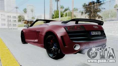 Audi R8 Spyder 2014 LB Work para GTA San Andreas left