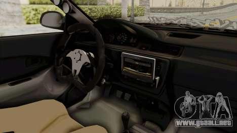 Honda Civic Hatchback 1994 Tuning para visión interna GTA San Andreas