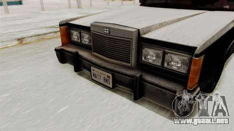 GTA 5 Dundreary Virgo IVF para GTA San Andreas vista hacia atrás