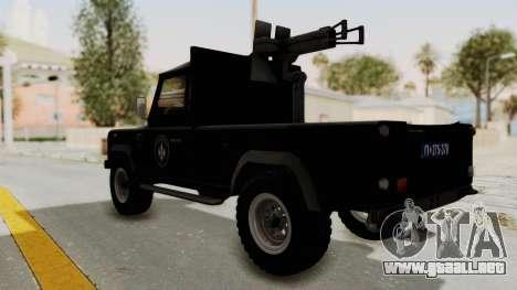 Land Rover Defender SAJ para GTA San Andreas left