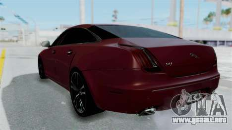 Jaguar XJ 2010 para GTA San Andreas left