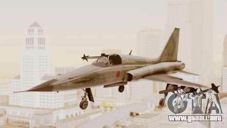 Northrop F-5E Tiger II JASDF para GTA San Andreas vista posterior izquierda