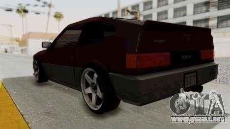 Blista CRX para GTA San Andreas left