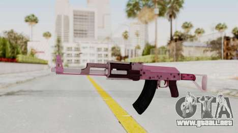 Assault Rifle Pink para GTA San Andreas segunda pantalla