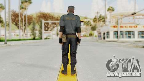 MGSV Phantom Pain Zero Risk Security Combat v2 para GTA San Andreas tercera pantalla