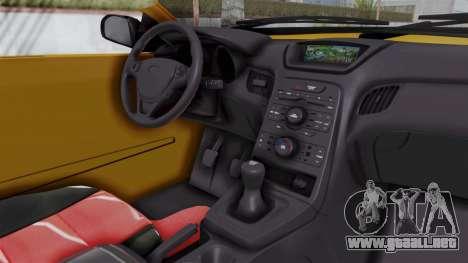 Nissan Maxima Spyder para visión interna GTA San Andreas