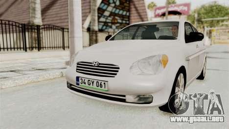 Hyundai Accent Era para GTA San Andreas left