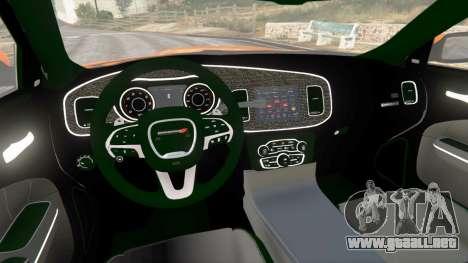 GTA 5 Dodge Charger SRT Hellcat 2015 v1.2 vista lateral trasera derecha