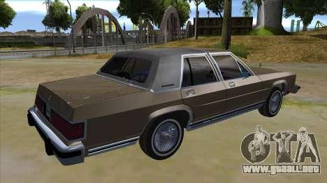 Mercury Grand Marquis 1986 v1.0 para la visión correcta GTA San Andreas