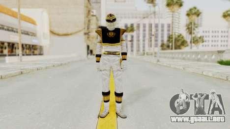 Mighty Morphin Power Rangers - White para GTA San Andreas segunda pantalla