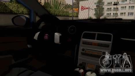 Fiat Linea 2011 para visión interna GTA San Andreas