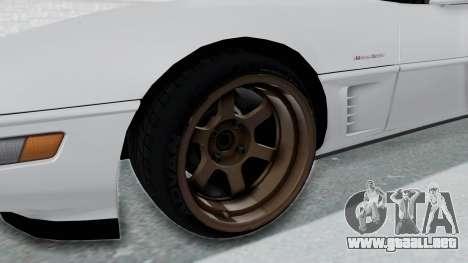 Chevrolet Corvette C4 Drift para GTA San Andreas vista hacia atrás