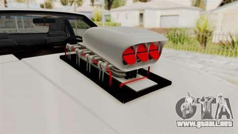Ford Mustang 1991 Monster Truck para GTA San Andreas vista hacia atrás