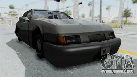 Lumia (Civil Hotring Racer) para la visión correcta GTA San Andreas