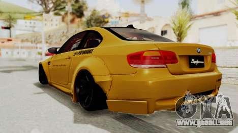BMW M3 E92 Liberty Walk para GTA San Andreas left