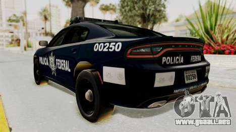 Dodge Charger RT 2016 Federal Police para GTA San Andreas left