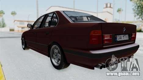 BMW 525i E34 1994 LT Plate para la visión correcta GTA San Andreas