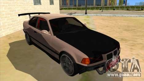 BMW M3 Drift Missile para GTA San Andreas vista hacia atrás