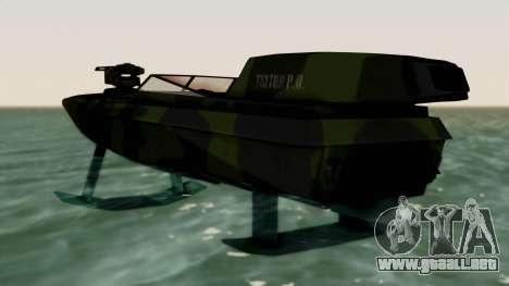 Triton Patrol Boat from Mercenaries 2 para GTA San Andreas vista posterior izquierda
