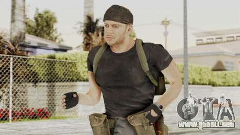 MGSV Phantom Pain RC Soldier T-shirt v1 para GTA San Andreas