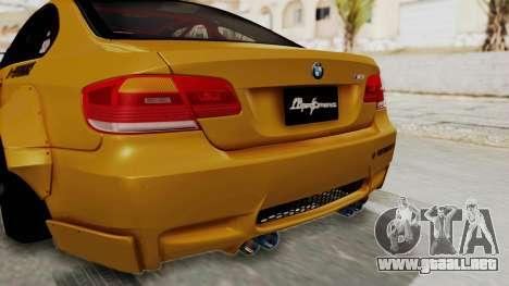 BMW M3 E92 Liberty Walk para vista inferior GTA San Andreas