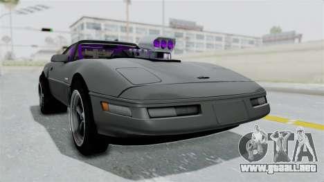 Chevrolet Corvette C4 Drag para la visión correcta GTA San Andreas